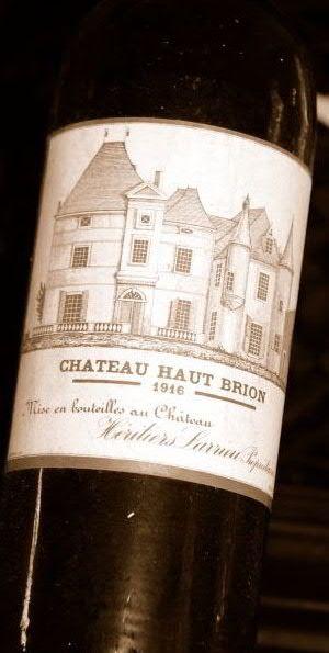 Hotell Refsnes Gods Vintage Wine Chateau Haut Brion Year 1916