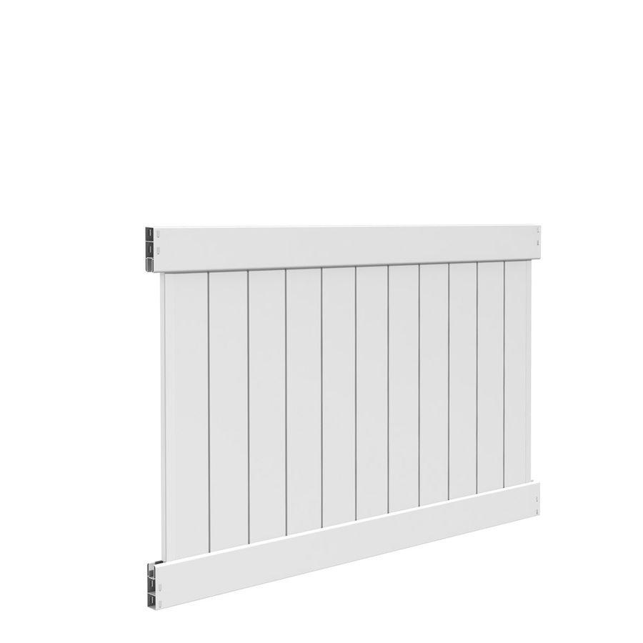 Freedom Ready To Assemble Hampton 4 Ft H X 6 Ft W White Vinyl Flat Top Fence Panel Lowes Com Vinyl Fence Panels Vinyl Privacy Fence Vinyl Fence