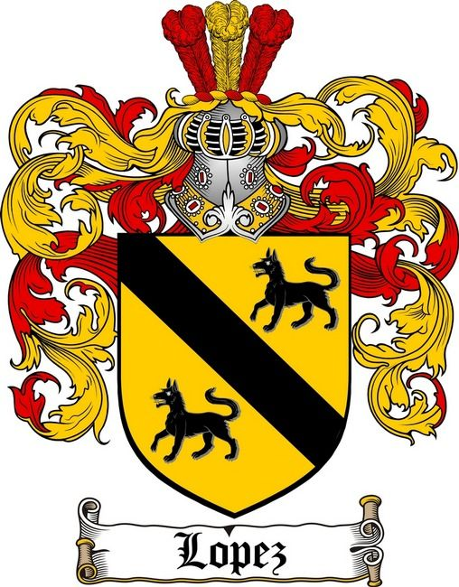 Lopez Family Crest Coat Of Arms Gifts At 4crests Lopez