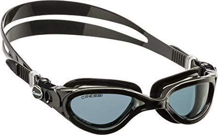 Adult Swim Goggles with Curved Shatterproof Colored Lens  FLASH made in Italy b