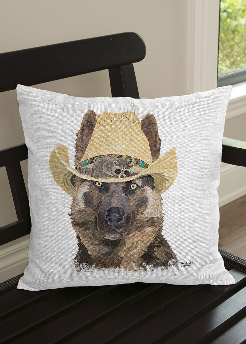 Curl up with this adorable German Shepherd pillow from the