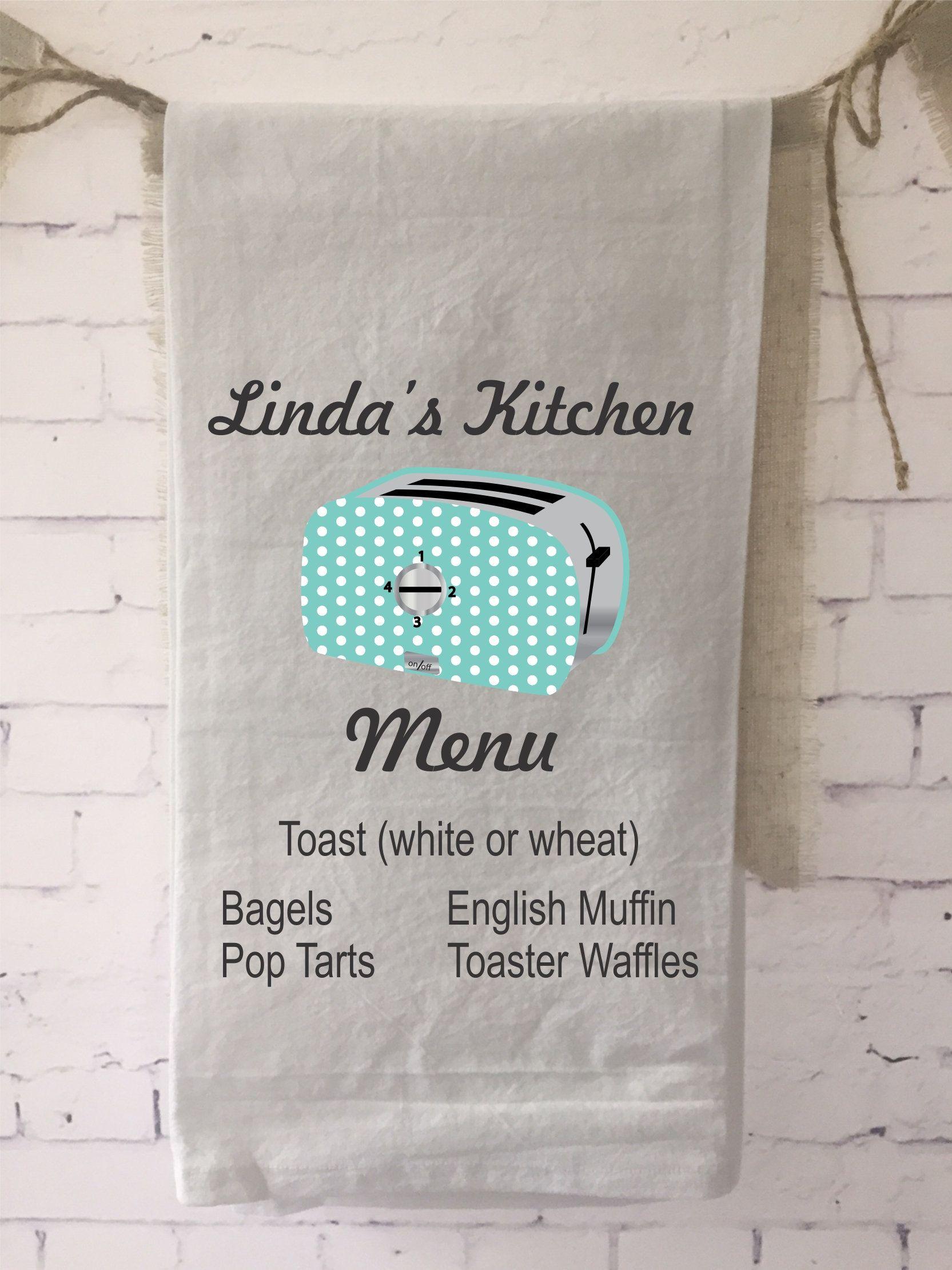 Funny Tea Towel Toaster Cook Wedding Gift Bridal Shower Gift Ho