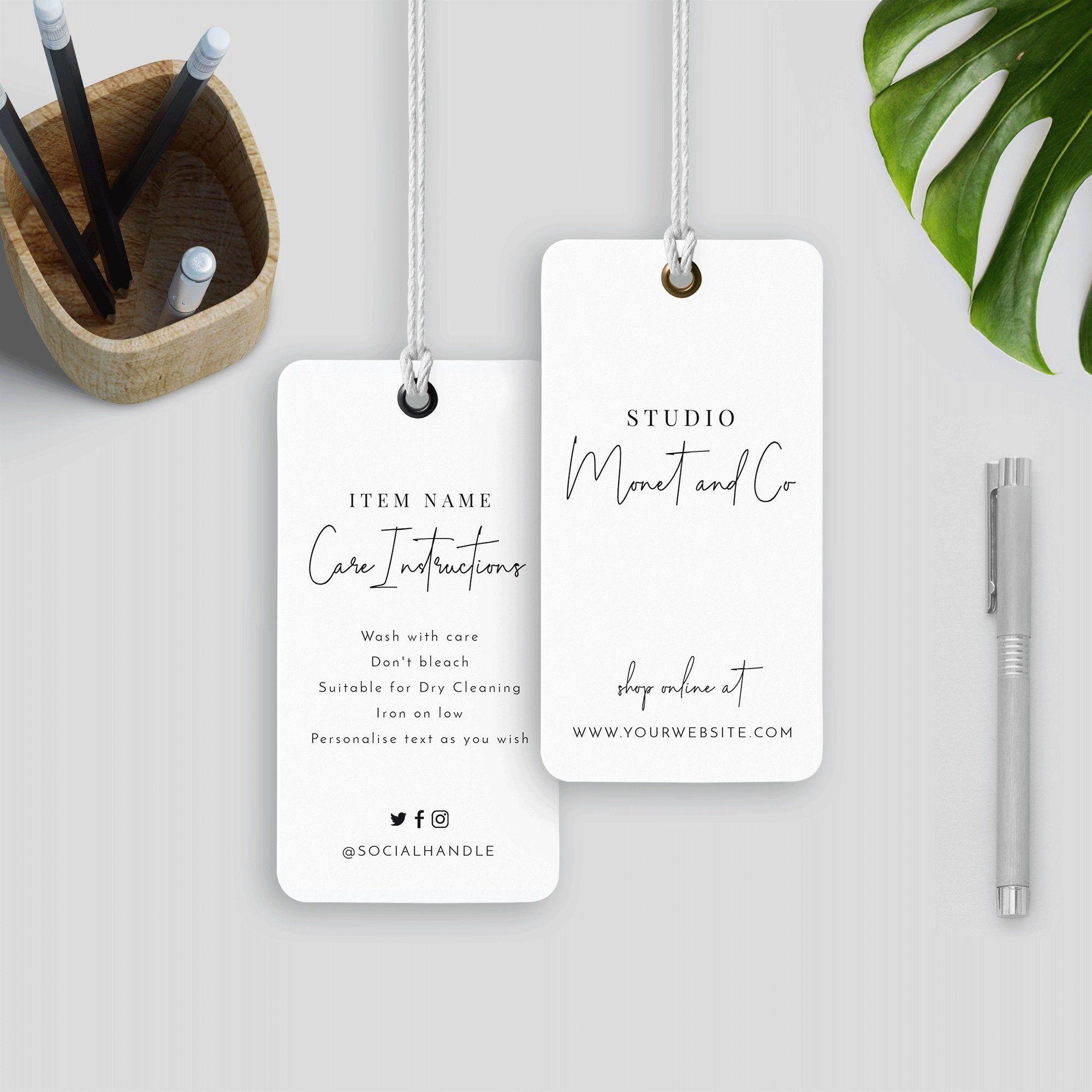 Minimalist Hang Tag Template Editable Hanging Tag Printable Etsy In 2020 Tag Template Etsy Printables Hang Tags