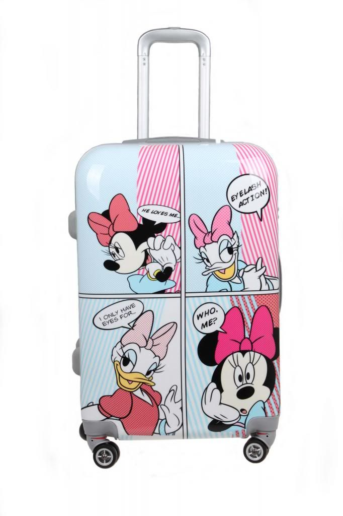 Lovely Mickey Donald Duck chip suitcase
