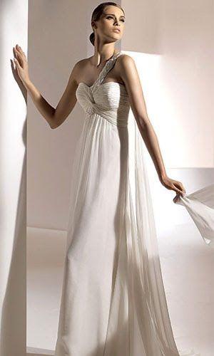 fe931558f3b37 grecian wedding dress #pronovias2010 Boncuklu Dantel, Gelinlikler,  İmparatorluk