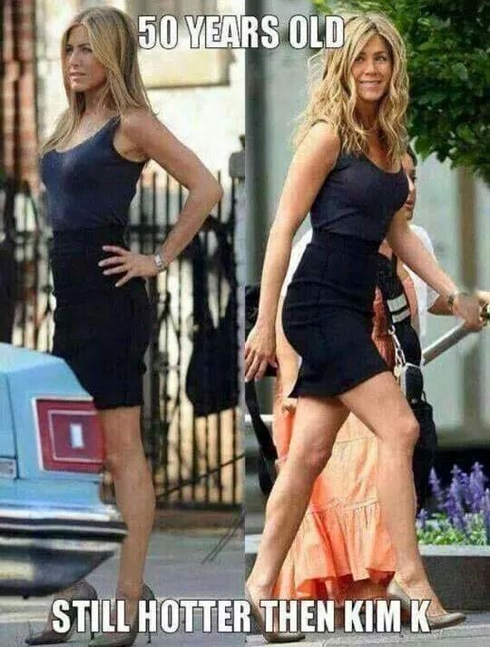 Jennifer Aniston still looking amazing at 50 years old, from