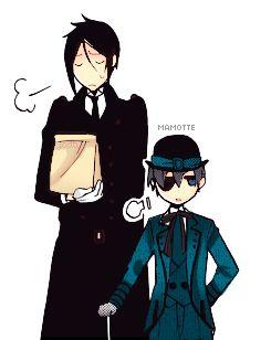 Chibi Myedit Kuroshitsuji Black Butler Sebastian MY BABIES Ciel Mangacolor Mamotte