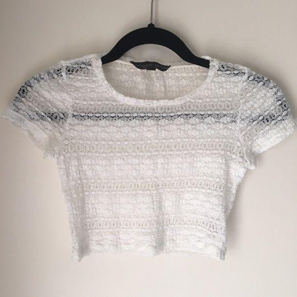 Topshop Crochet Crop Top Topshop crochet crop top, cute floral crochet design Topshop Tops Crop Tops