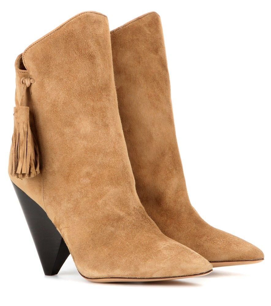 Leyton Isabel Marant ankle boots Marant suede Isabel 8XnNZ0wPkO