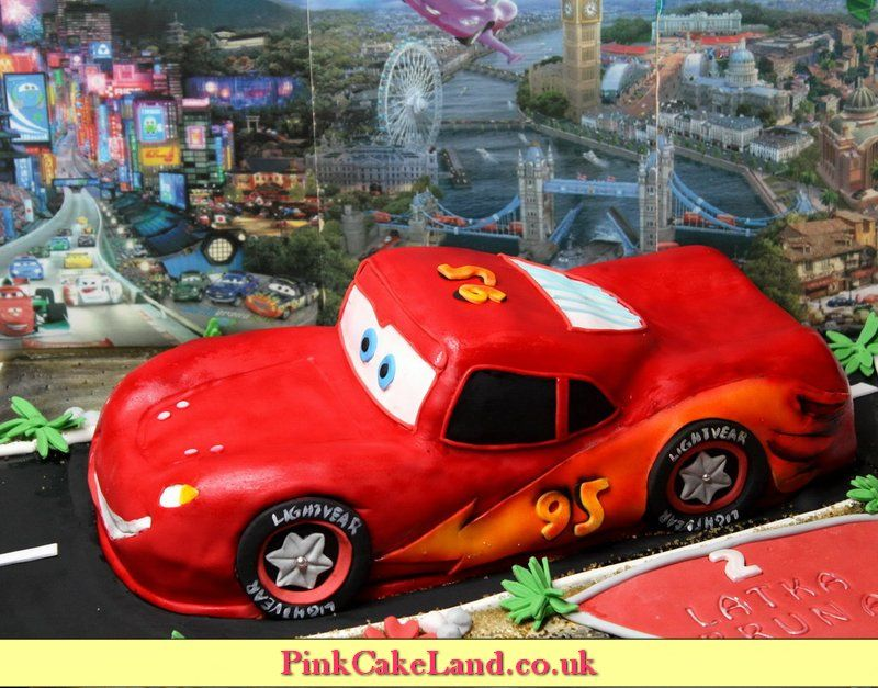 Lightning McQueen Birthday Cake London httpwwwpinkcakelandco