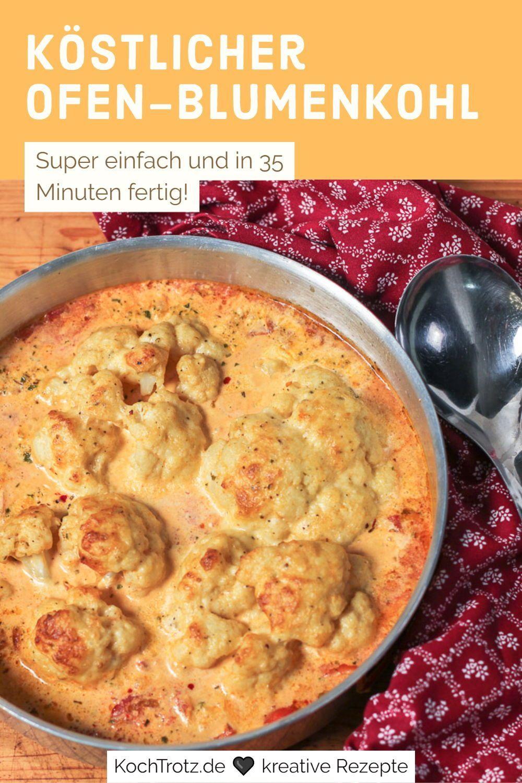 Leckerer und einfacher Ofen Blumenkohl