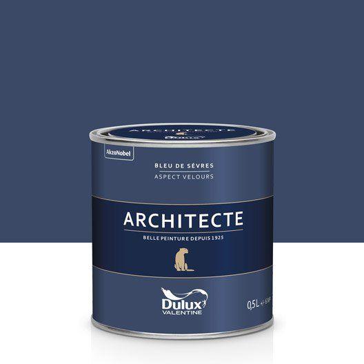 Peinture bleu de sèvres velours DULUX VALENTINE Architecte 0.5 l en 2019 | Peinture bleu pétrole ...