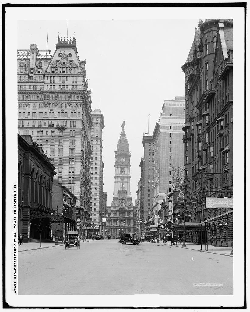 Broad Street And City Hall Tower Philadelphia Pa Vintage Photographs Broad Streets City