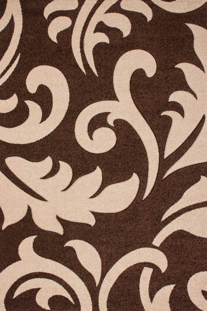 Teppich Lalee 347222797 Moderner Designer Muster Ranken - Teppich Wohnzimmer Braun