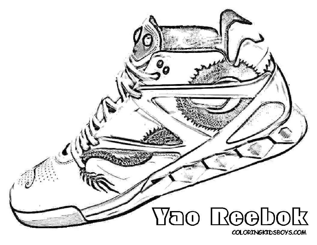 Nba Shoes Coloring Pages Pictures