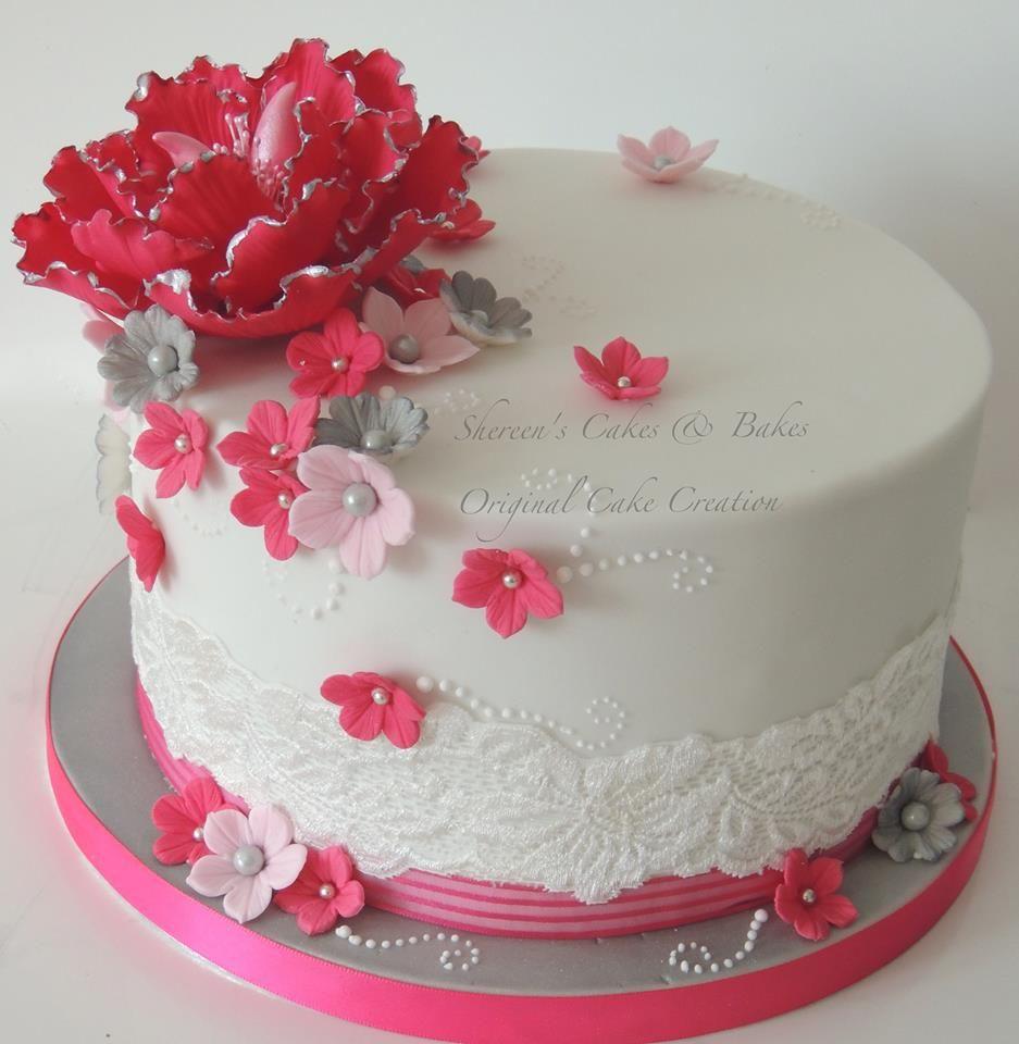 Pink & grey cake