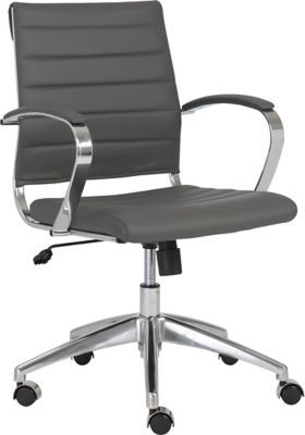 Staples For Euro Style Axel Leatherette Low Back Office Chair Gray