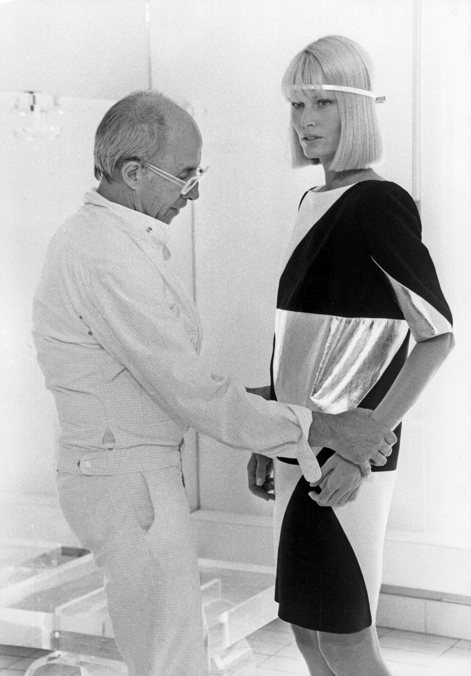 """""""The dress in this [1983] photograph . . . was so well made. You felt like you didn't wear anything,"""" recalls Gunilla Lindblad."""