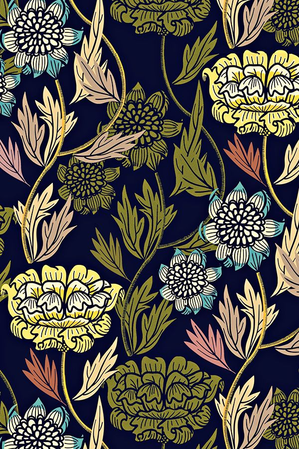 Colorful Fabrics Digitally Printed By Spoonflower Joy Blooms
