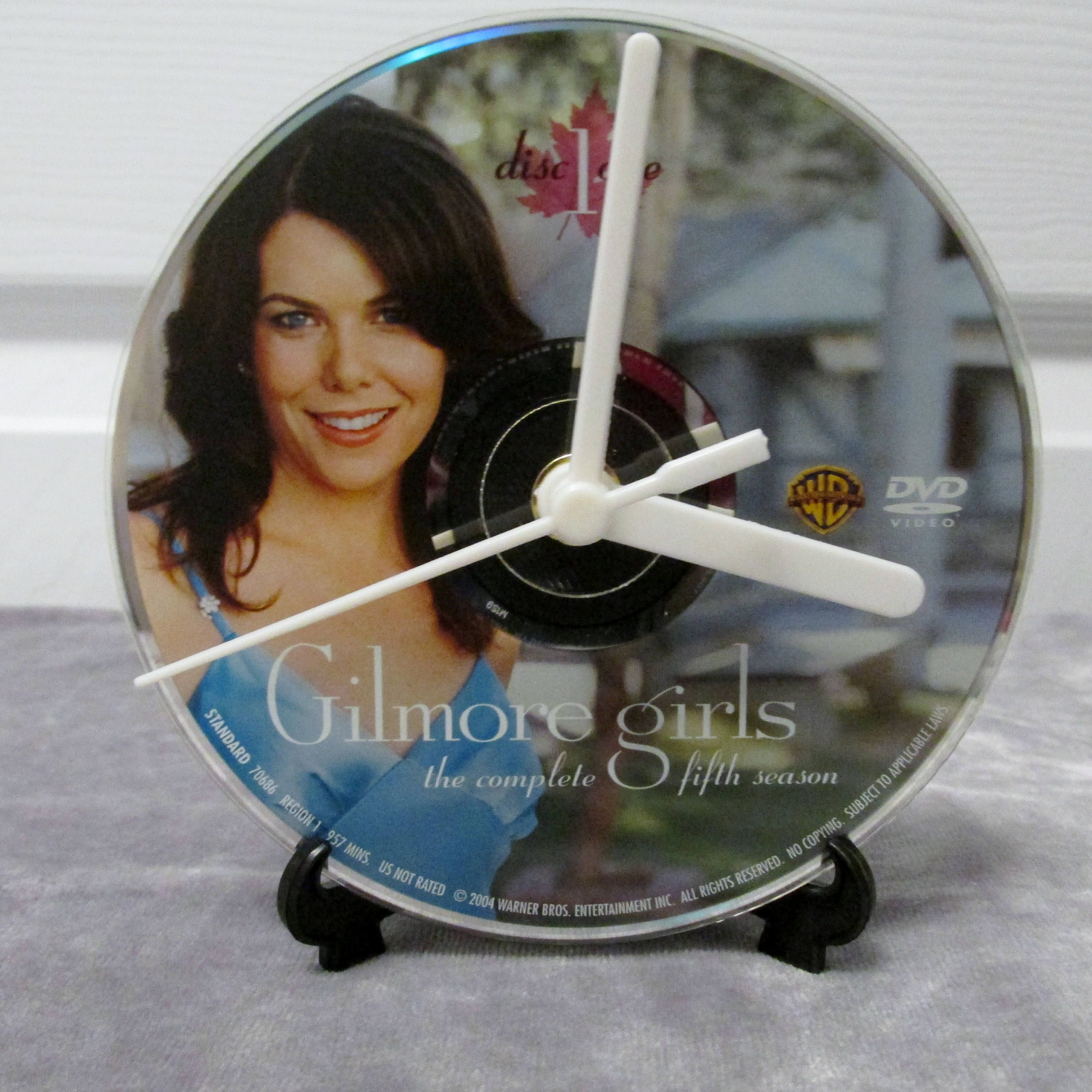 Gilmore Girls DVD Clock Upcycled TV Show #1 - Lorelai by DarkStormTV on Etsy