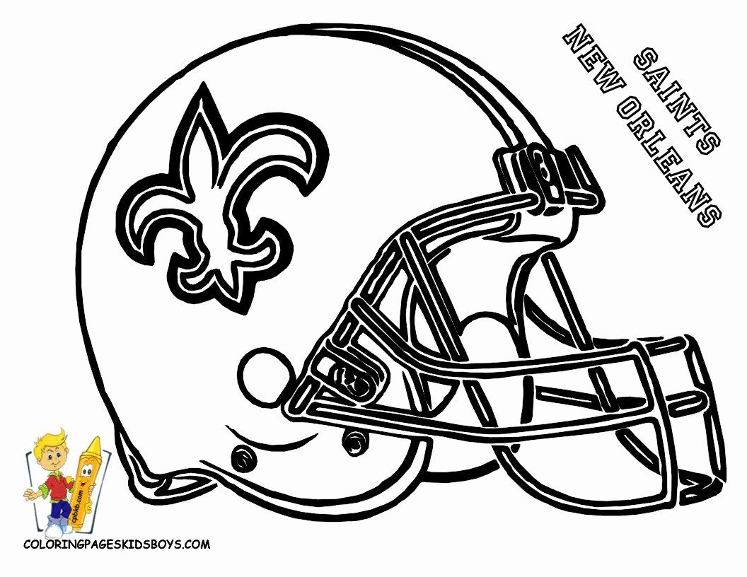 Sports Coloring Book Images Awesome Inspirational New Orleans Saints Football Coloring Page Football Coloring Pages New Orleans Saints Football Saints Football