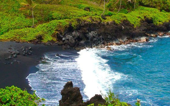 Black sand beach Maui. One of my favorite places.