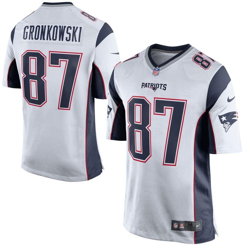 a6e998b32 Rob Gronkowski New England Patriots Nike Youth Game Jersey - White ...