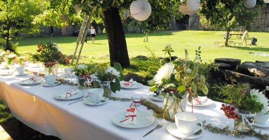 Anlass Hochzeit 110 Personen  Leistung Tisch und BuffetDekoration Auenanlage Innenrume