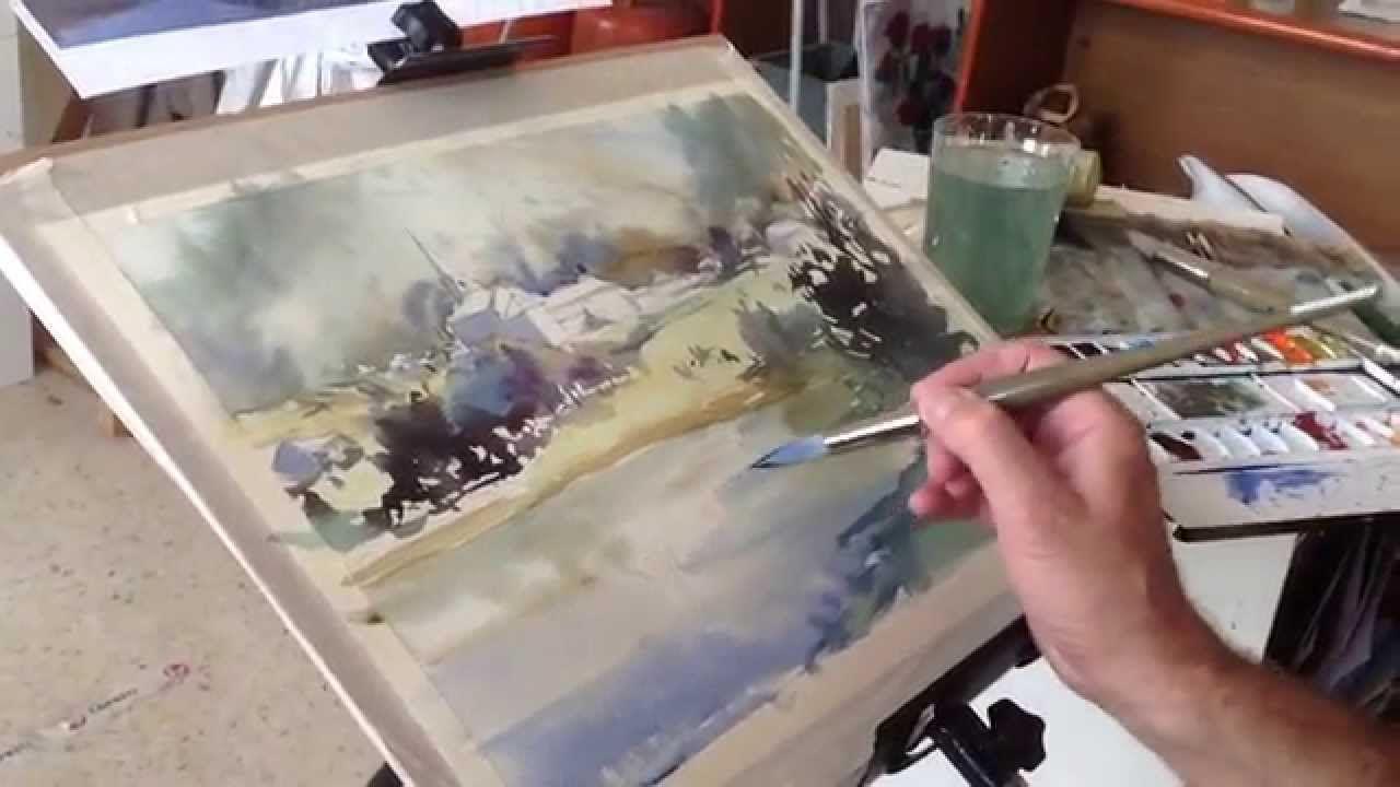 Como Pintar Acuarela Paso A Paso. Watercolor Demo