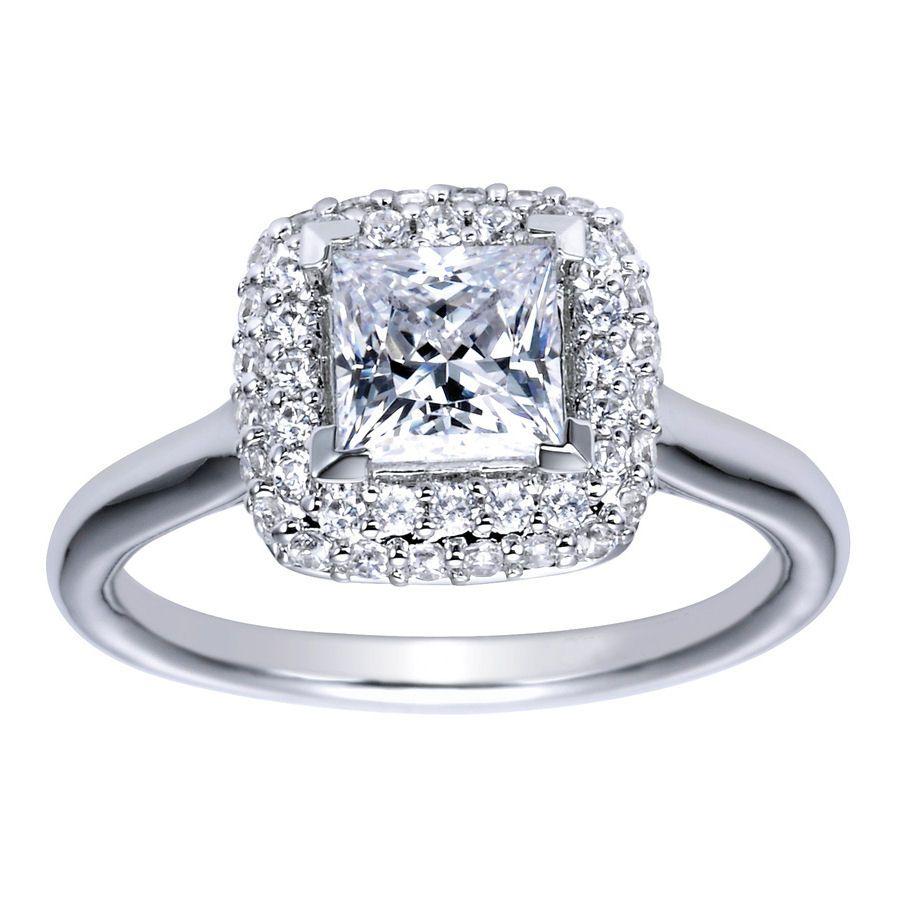 princess cut heirloom engagement ring choose your metal choose an option 14k white