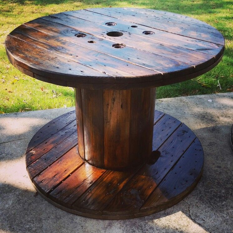 Spool Tables For The Lounge Area By Combined Bars 1 & 2