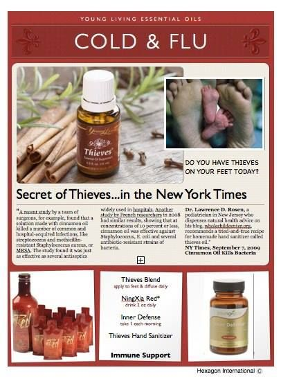 Protect yourself, naturally for the Cold and Flu. ORDER now: Lisa Krznarich, RN - www.naturesEZremedies.com