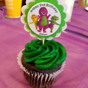 Barney Birthday Party Cupcake Toppers Baby Bop U0026 BJ Baby Shower 3 D High  Quality
