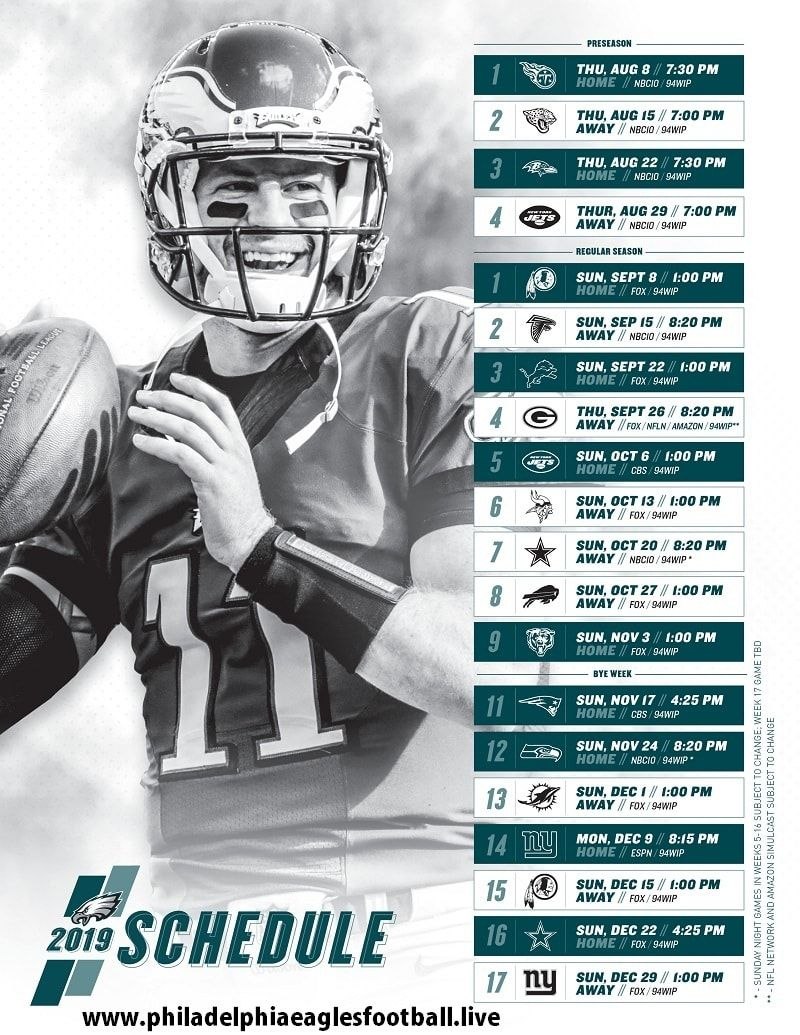Philadelphia Eagles Nfl Football Games Today Live Stream Nfl Football Games Philadelphia Eagles Nfl Football Schedule