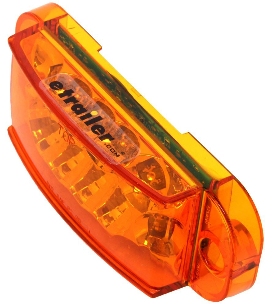 Miro Flex Led Trailer Side Marker Light And Mid Ship Turn Signal Submersible Amber Lens Optronic Submersible Best Trailers Lights