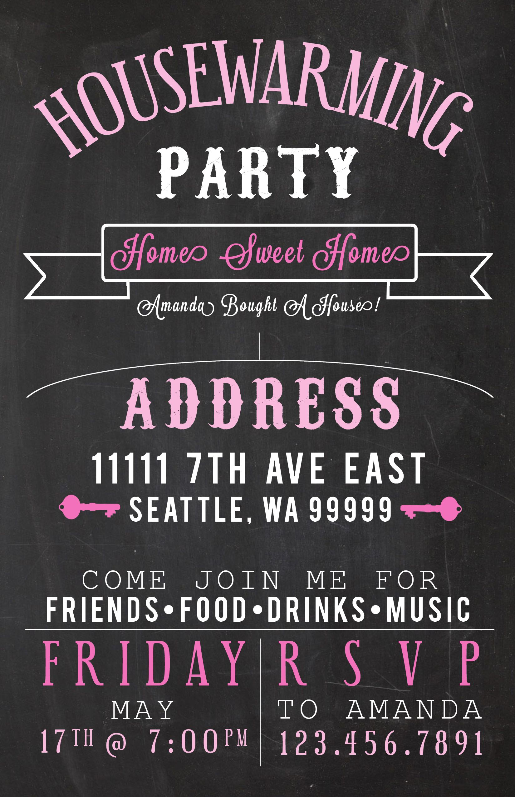 Housewarming Party Invites Amandarobinett