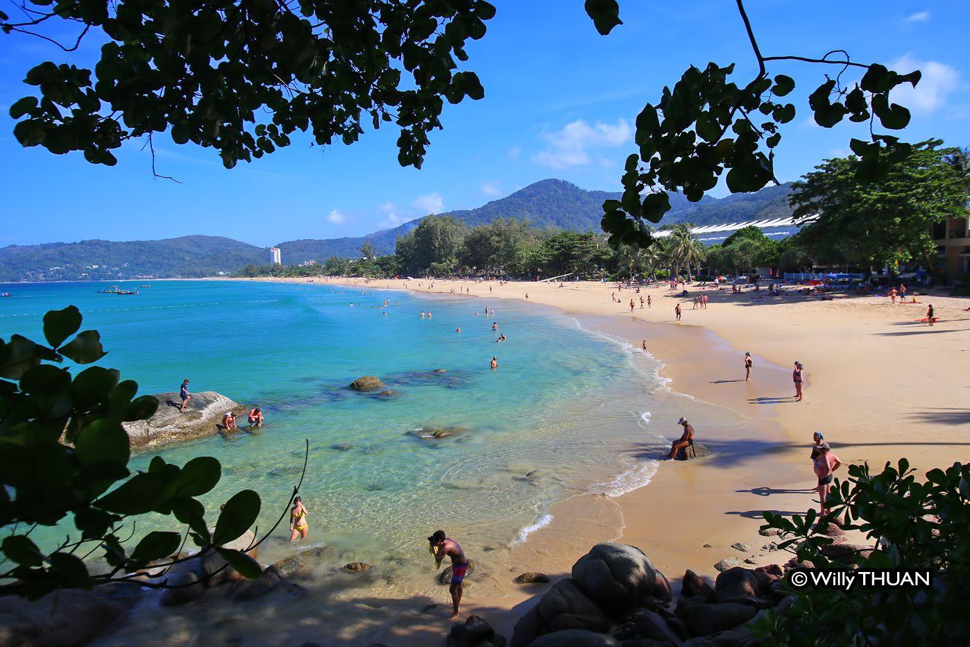 Karon Beach Phuket Thailand The huge swimming