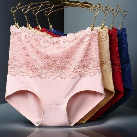 b5c9680619d Women Modal Panty High Waist Breathable Trigonometric Panties Plus Size Female  Underwear Body Shaping lace Briefs