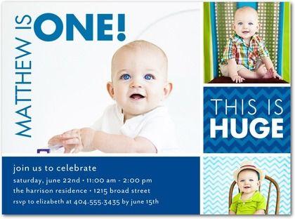 Baby Boy 1st Birthday Invitations My Birthday Pinterest