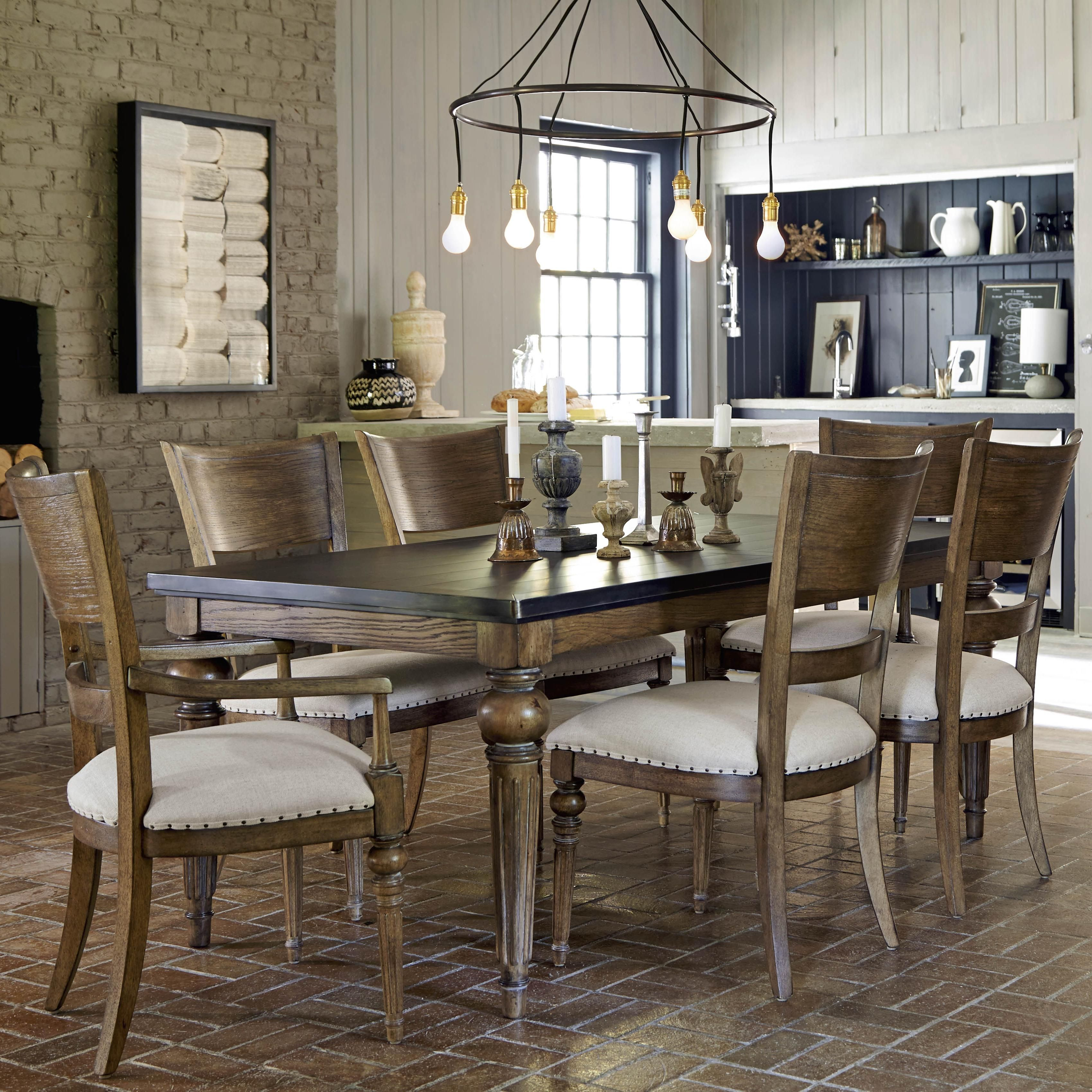 Universal New Bohemian 7 Piece Dining Set With Coffee House Table   Zaku0027s  Fine Furniture   Dining 7 (or More) Piece Set Tri Cities   Johnson City And  ...