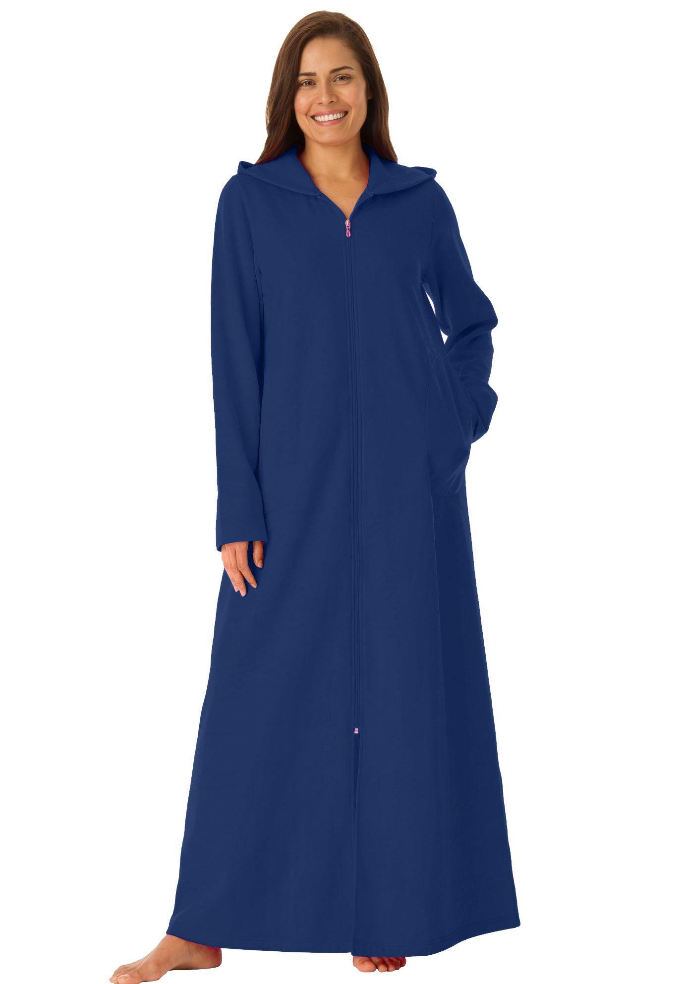 800c85c0cb1 Petite Hooded Fleece Robe by Dreams   Co. reg  - Women s Plus Size Clothing
