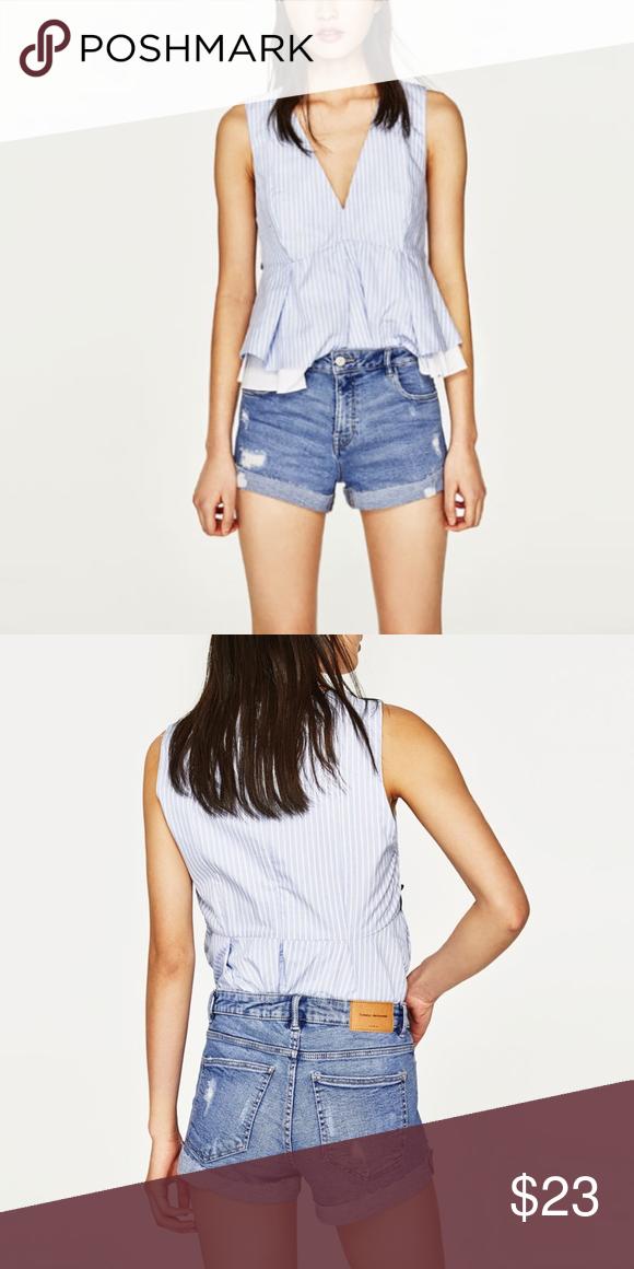 68dbf600f2 Zara Trafaluc denim shorts in women BRAND NEW denim shorts ...