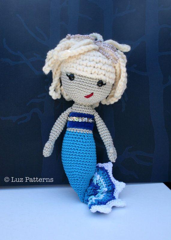 Crochet pattern amigurumi mermaid doll 141 baby by Luz Patterns $4.99 #amigurumi #crochet