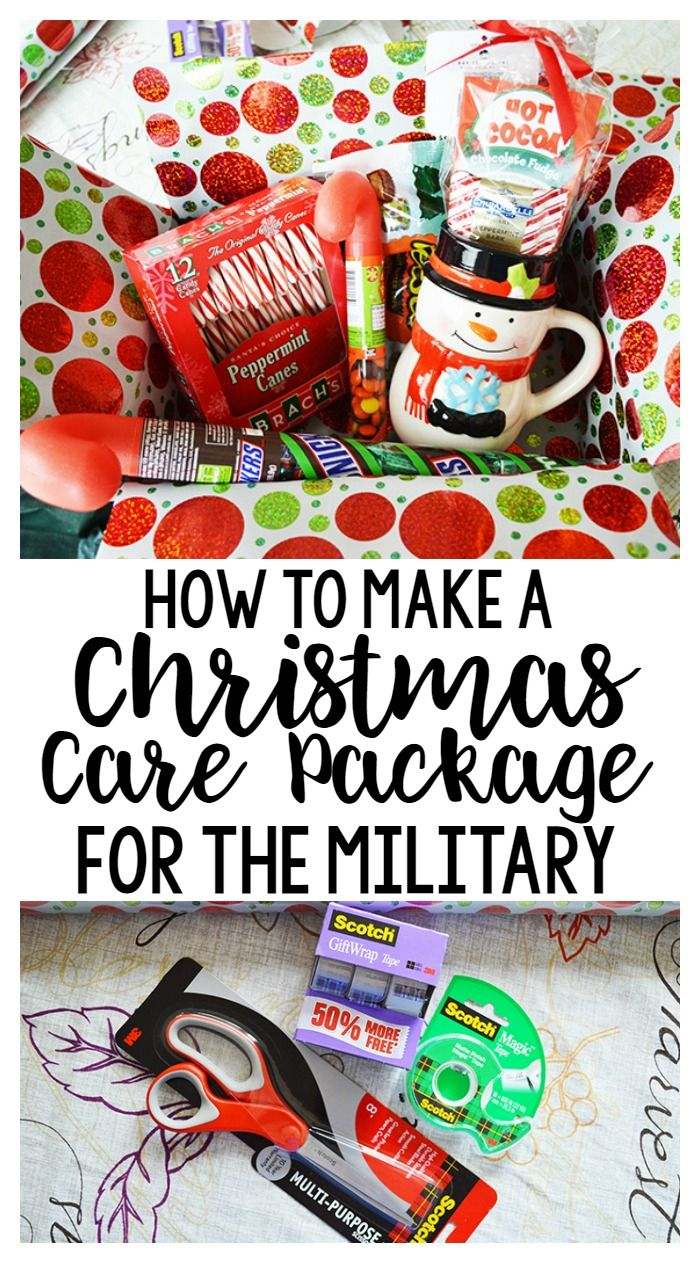 How To Make A Christmas Care Package For The Military Or Family Far Away Planning Inspired Christmas Care Package Military Care Package Military Christmas Care Package