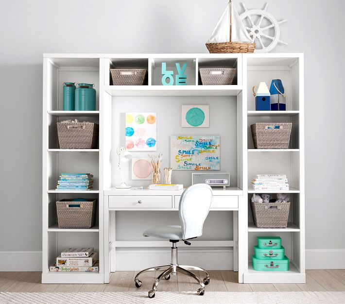 Preston Desk Amp Storage Wall System Desk Storage Home Office Design Kids Bedroom Furniture