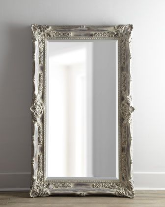 Antique french floor mirror floor mirror room and for Vintage floor length mirror