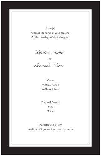 Black And White Wedding Invitations Vistaprint Tracy Wedding