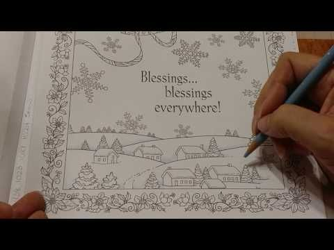 7 Coloring Book Blending Snowdrifts And Rooftops Youtube Coloring Tutorial Coloring Books Coloring Pages