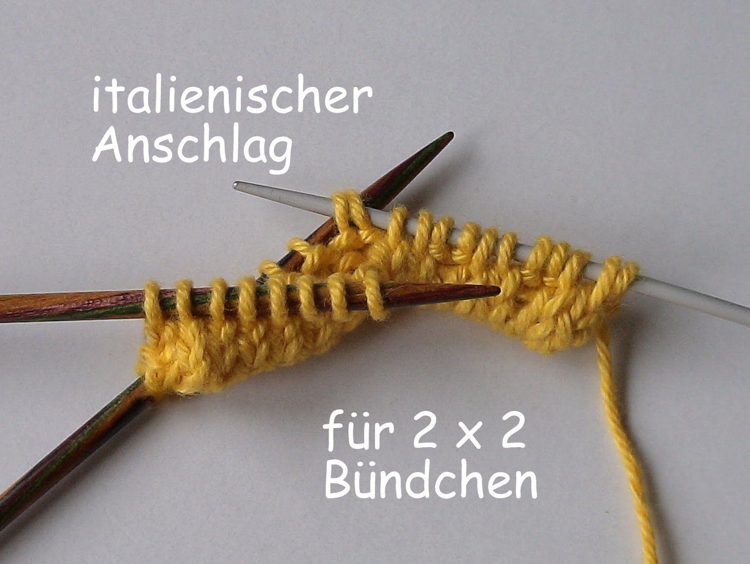 """Photo of 01.12 – STRICKEN : """"italienischer"""" Wickel-Anschlag für 2×2-Rippen-Bündchen"""