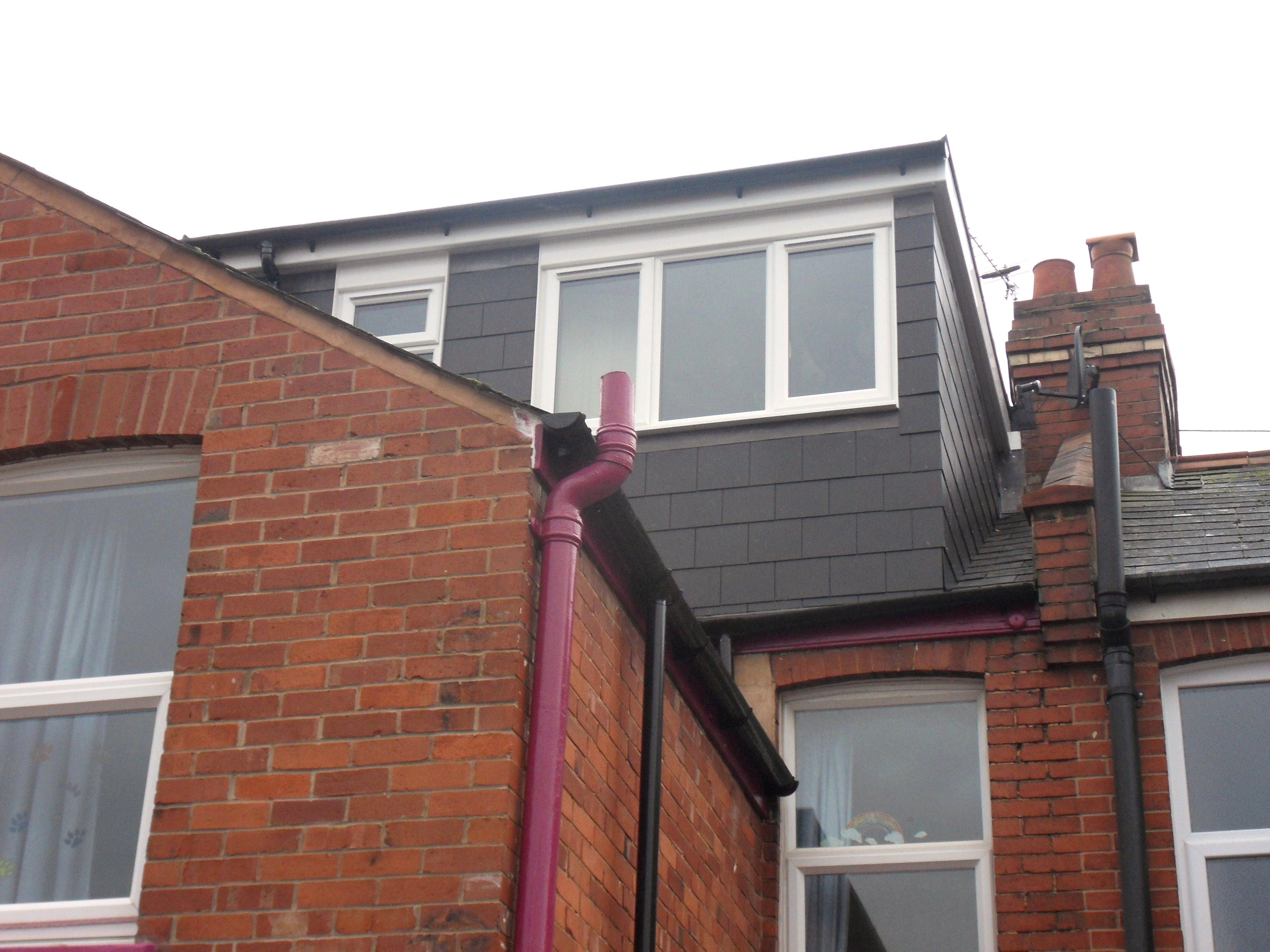 Flat Roof Dormer To Victorian Terrace House In Exeter